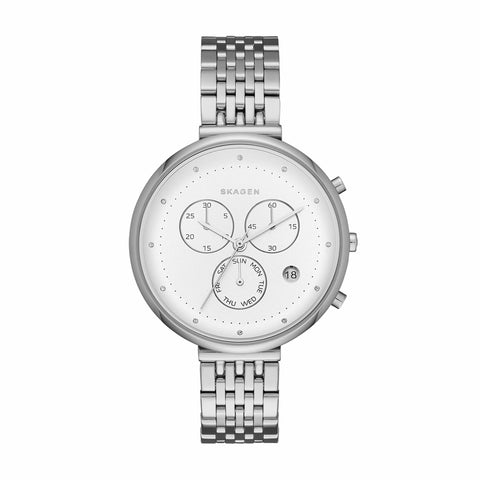 Gitte Multifunction Chronograph Silver Tone