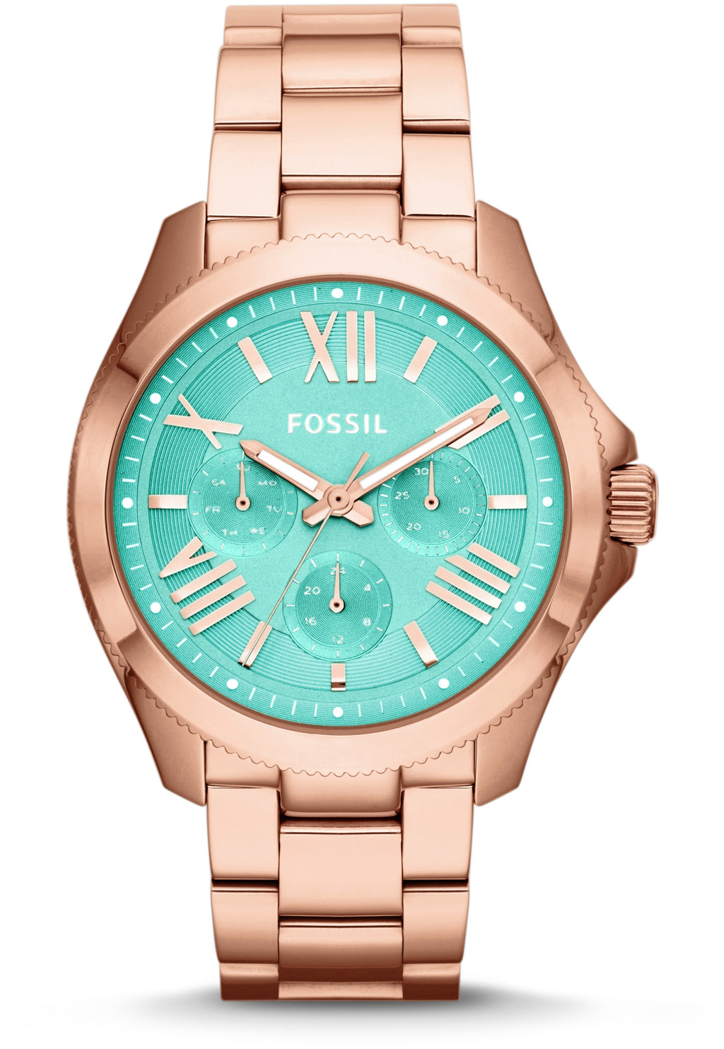 Cecile Multifunction Rose-Tone Green Dial