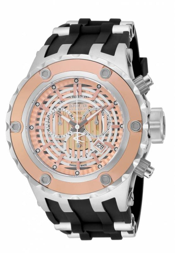 Subaqua Men's Polyurethane/Stainless Steel Rose Gold Dial