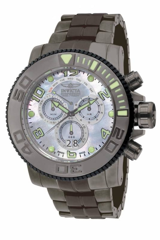 Sea Hunter Men's Stainless Steel Platinum Dial