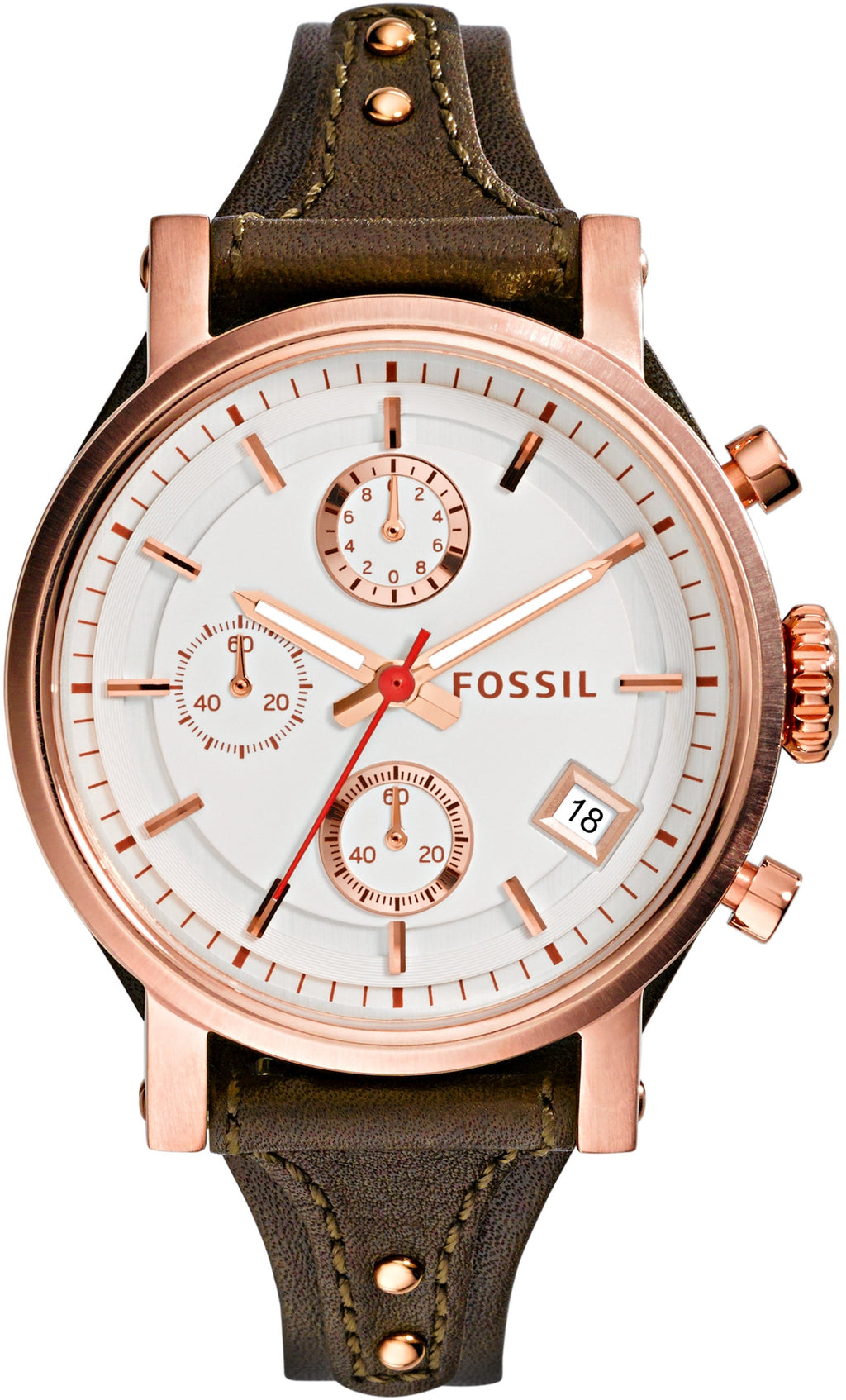 Original Boyfriend Chronograph Rose Gold Leather