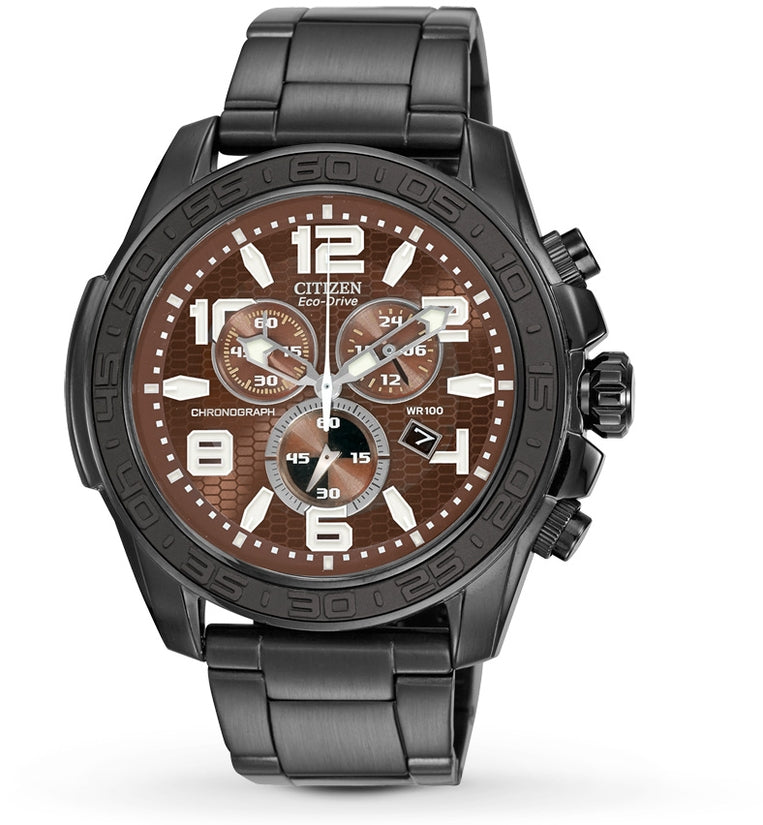 AT2275-56X BRT Chronograph Brown Dial Stainless Steel Strap Men's Watch