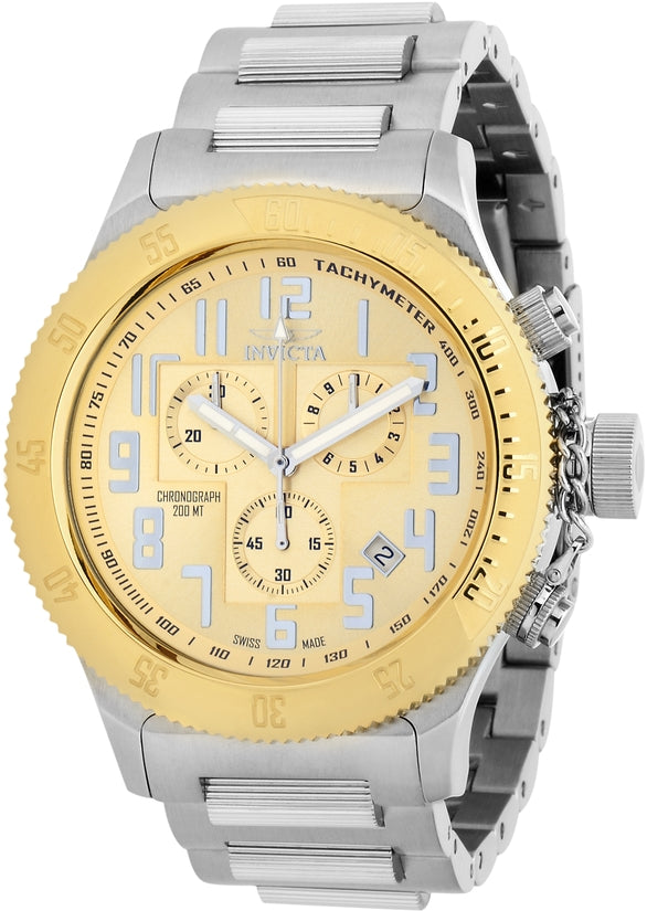 Russian Diver Men's Stainless Steel Gold Dial