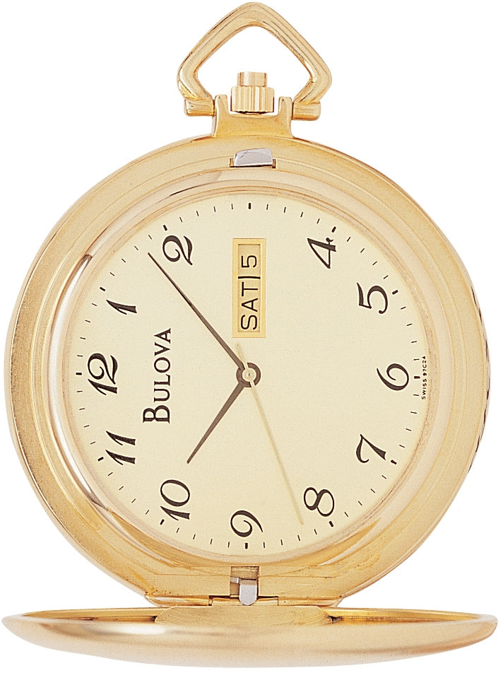 Gold Tone Pocket Watch & Knife