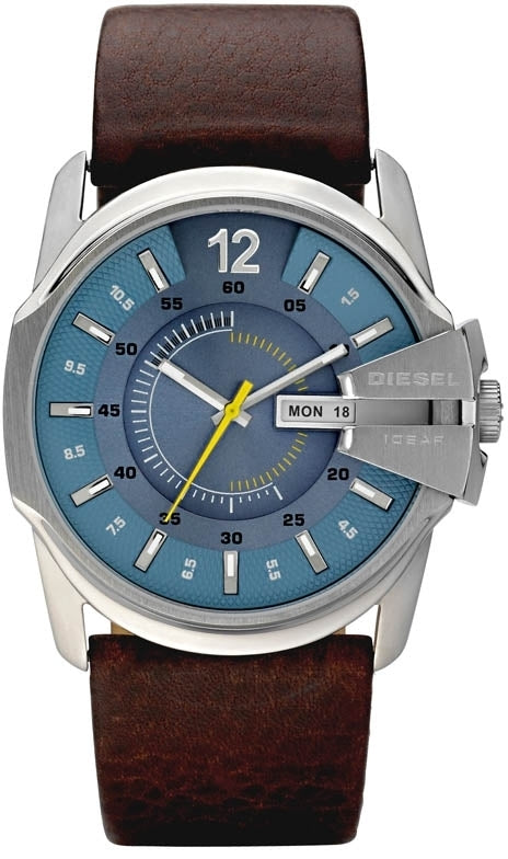 Master Chief Blue Dial Brown Leather