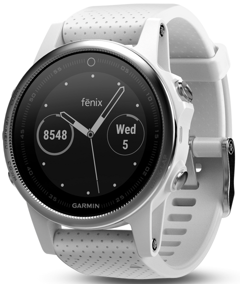 Fenix 5S White Carrara with White Band Multisport Training GPS