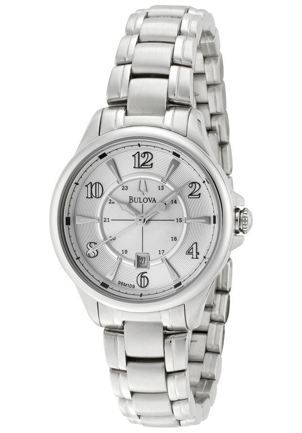 Adventurer Analog White Dial Stainless Steel Women's Watch 96M109