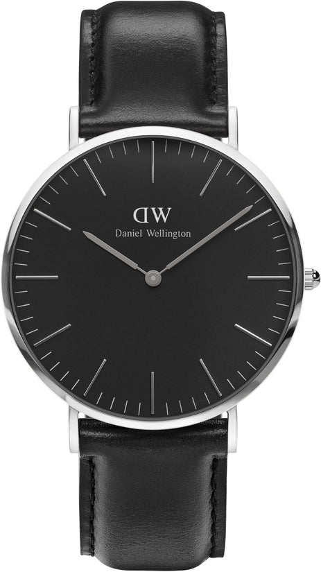 Classic Black Sheffield Silver 40mm