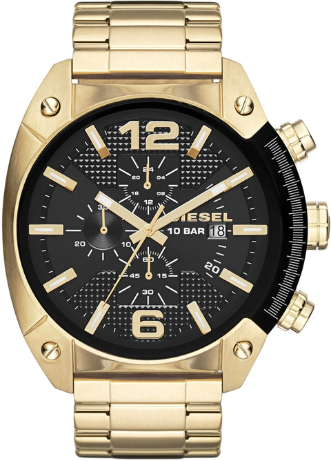 Overflow Chronograph Gold Tone Black Dial