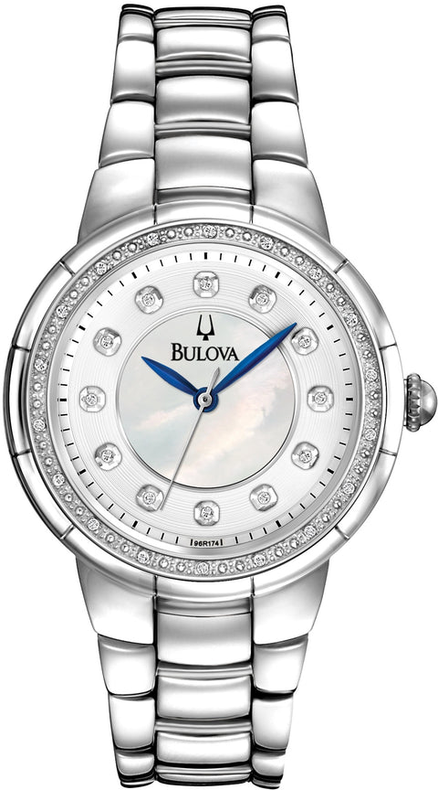 Rosedale Diamond Accented MOP Dial Stainless Steel Women's Watch 96R174