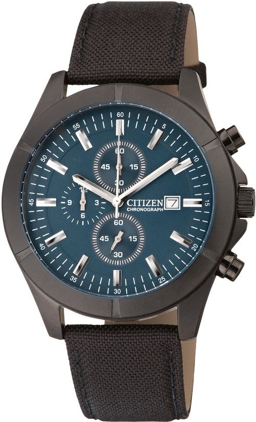 Chronograph Blue Dial Black Nylon Mens Watch AN3525-01L