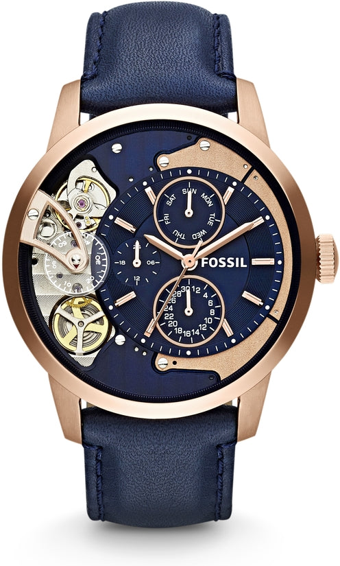 Townsman Multifunction Navy Leather