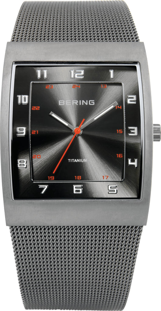 Men's Silver-Tone Stainless Steel Grey Dial
