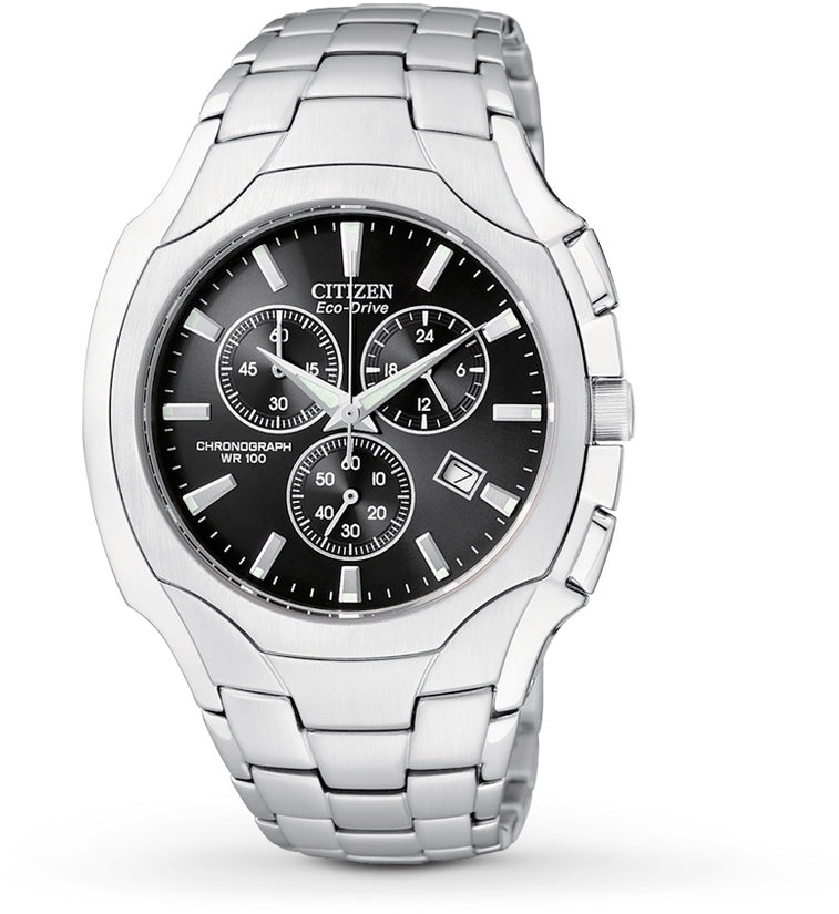 AT0880-50E Chronograph Black Dial Stainless Steel Strap Men's Watch
