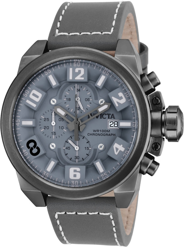 Corduba Men's Leather Gun Metal Dial