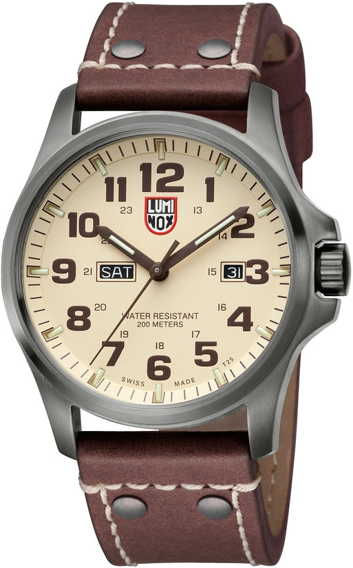 Atacama Field Day Date Brown Leather Mens Watch 1926