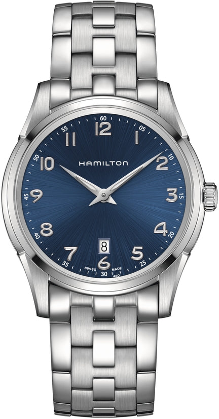 Jazzmaster Men's Stainless Steel Bracelet Blue Dial