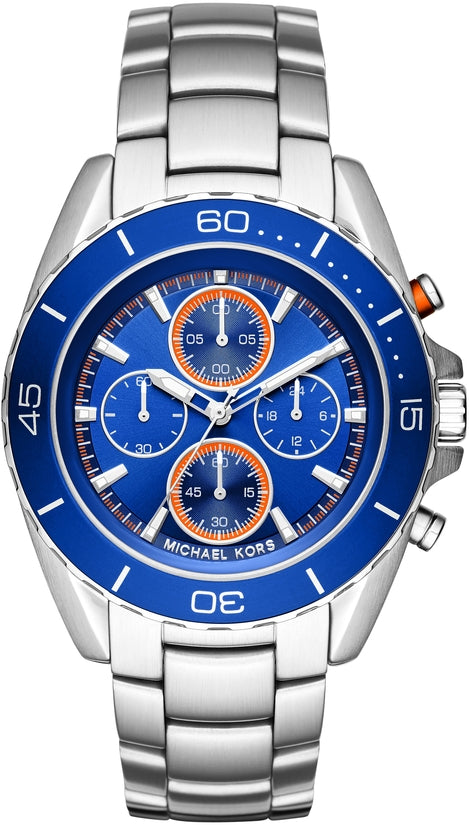 Jetmaster Chronograph Blue Dial Silver Tone