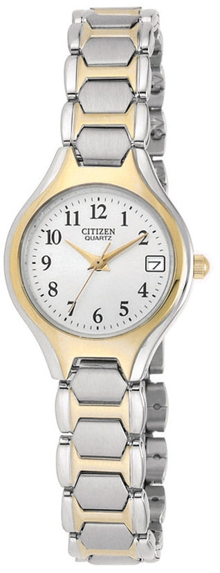 White Dial Analog Two-Tone Stainless Steel Womens Watch EU2254-51A
