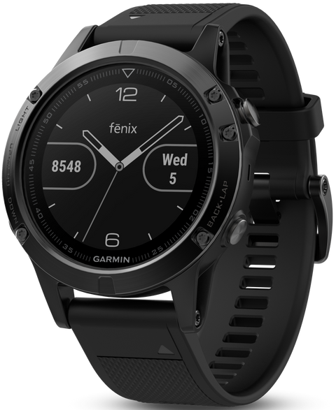 Fenix 5 Slate Gray with Black Band Multisport Training GPS