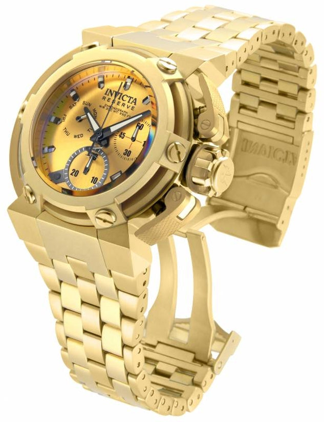 Reserve Men's Stainless Steel Gold Dial