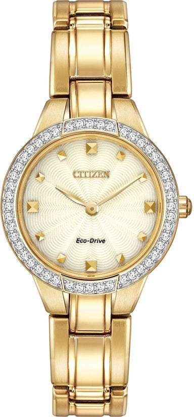 EX1362-54P Silhouette Gold-Tone Stainless Steel Strap Women's Watch