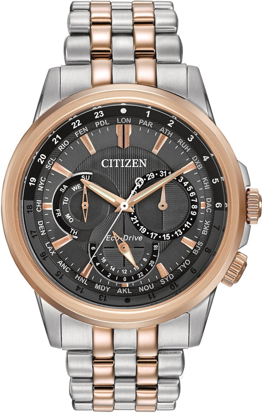 Calendrier Multifunction Silver & Rose Gold Tone