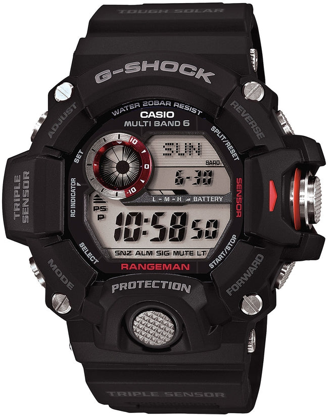 G-Shock Rangeman Digital Grey Dial Black Resin Strap Men's Watch GW9400-0