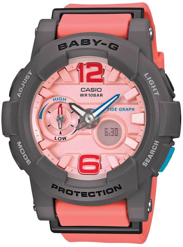 Baby-G BGA180-4B2 Pink Dial Resin Strap Womens Watch