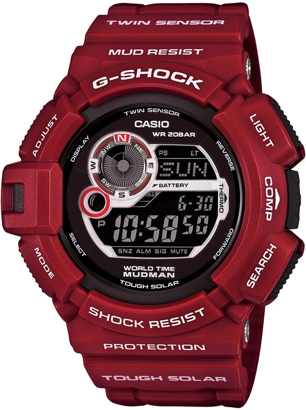 G-Shock G9300RD-4 Master of G Black Digital Dial Red Resin Strap Mens Watch
