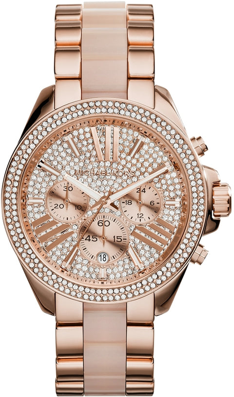 Wren Chronograph Rose Tone/ Blush Acetate