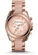 Blair Chronograph Rose Tone/ Blush Acetate