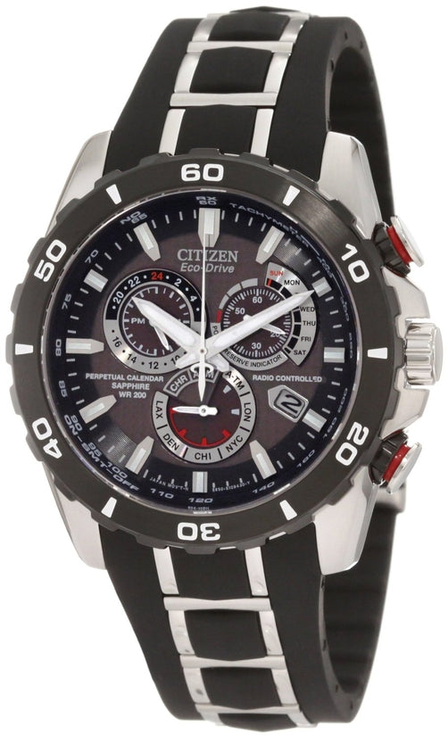 AT4025-01E Perpetual Chronograph Black Dial Stainless Steel Strap Men's Watch