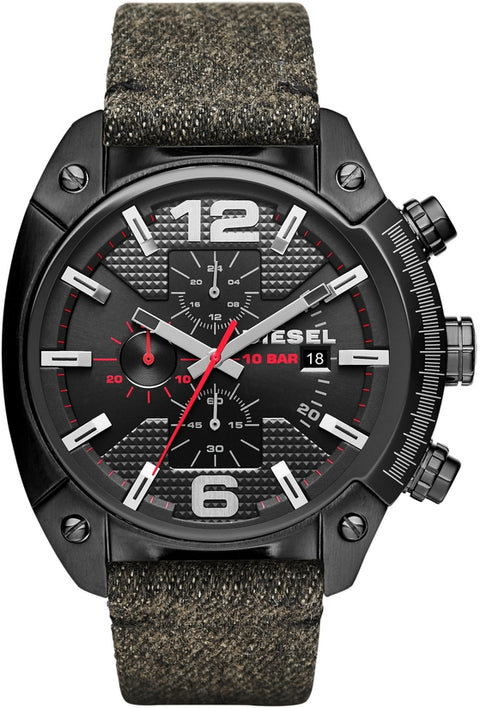 Overflow Chronograph Black Dial Fabric & Leather