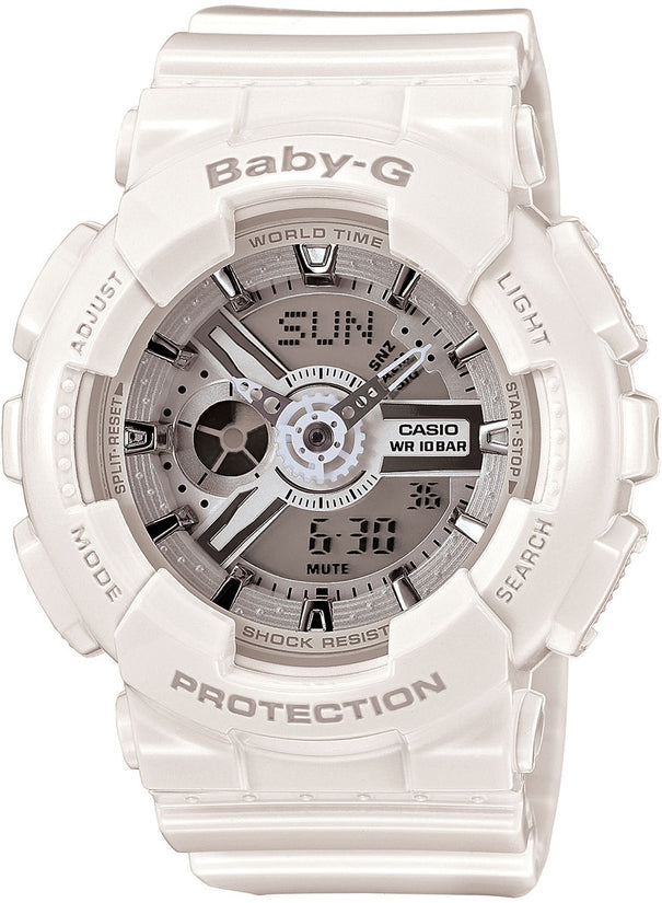 Baby-G BA110-7A3 Analog Digital White Resin Womens Watch