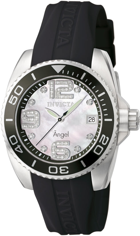 Angel Men's Polyurethane Mother of Pearl Dial