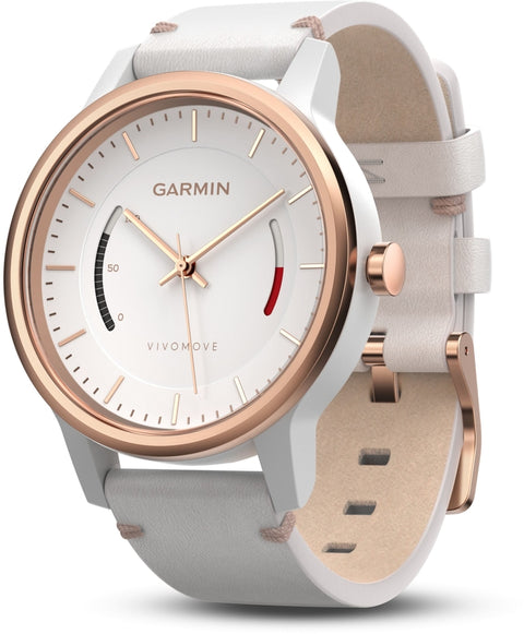 Vivomove Classic White Leather Rose Gold