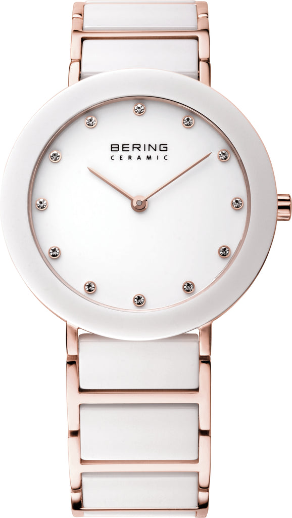 Women's White Ceramic White Dial