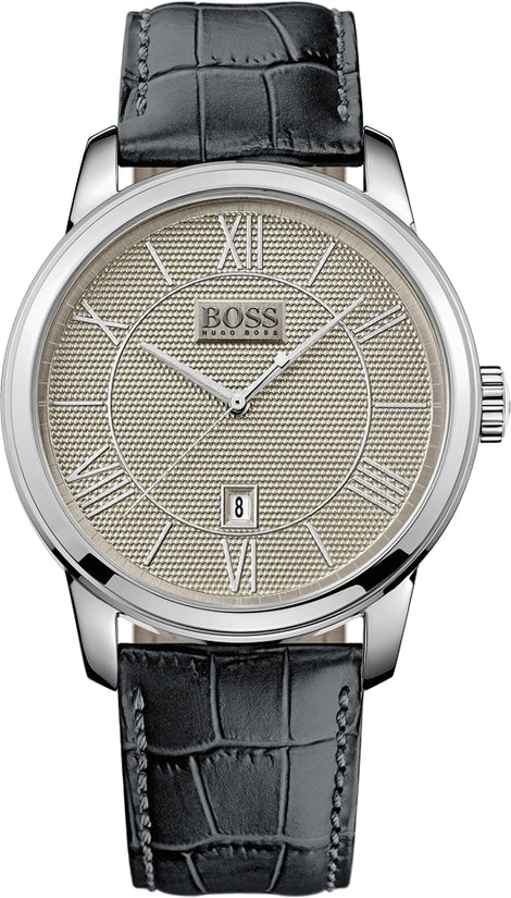 Classico Men's Grey Leather Gray Dial