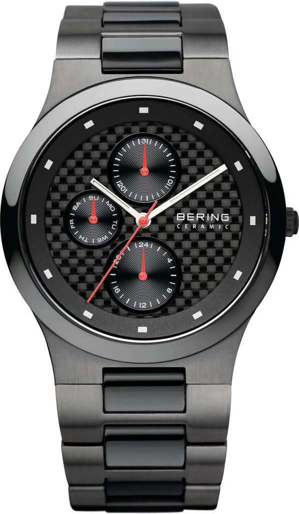 Men's Black Ceramic Black Dial