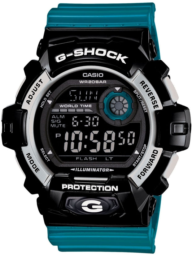 G-Shock Crazy Color Collection Black Dial Blue Band Mens Watch G8900SC-1B