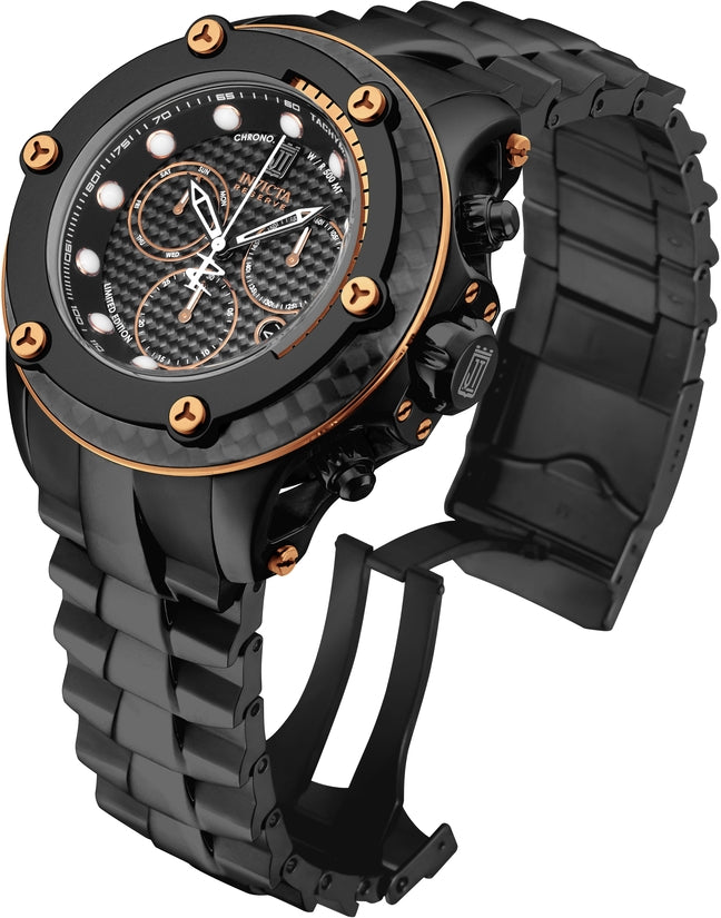 Jason Taylor Men's Stainless Steel Black Dial