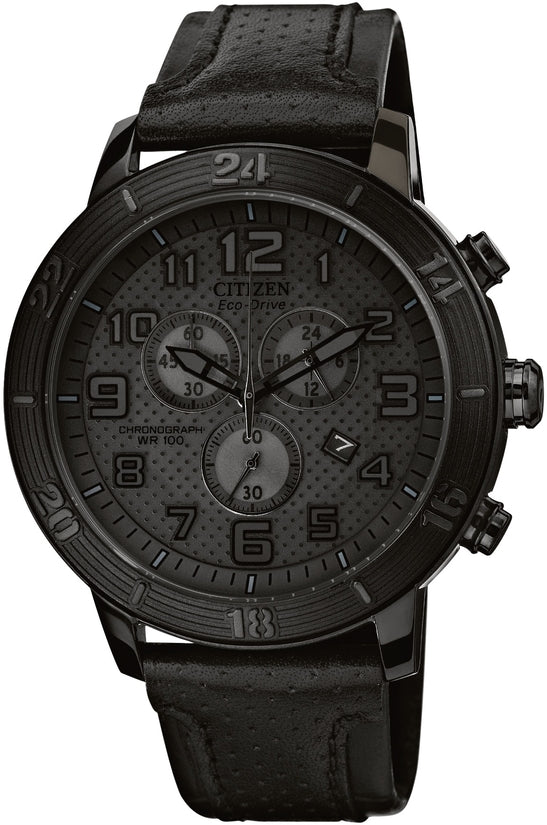 BRT Chronograph All Black Leather