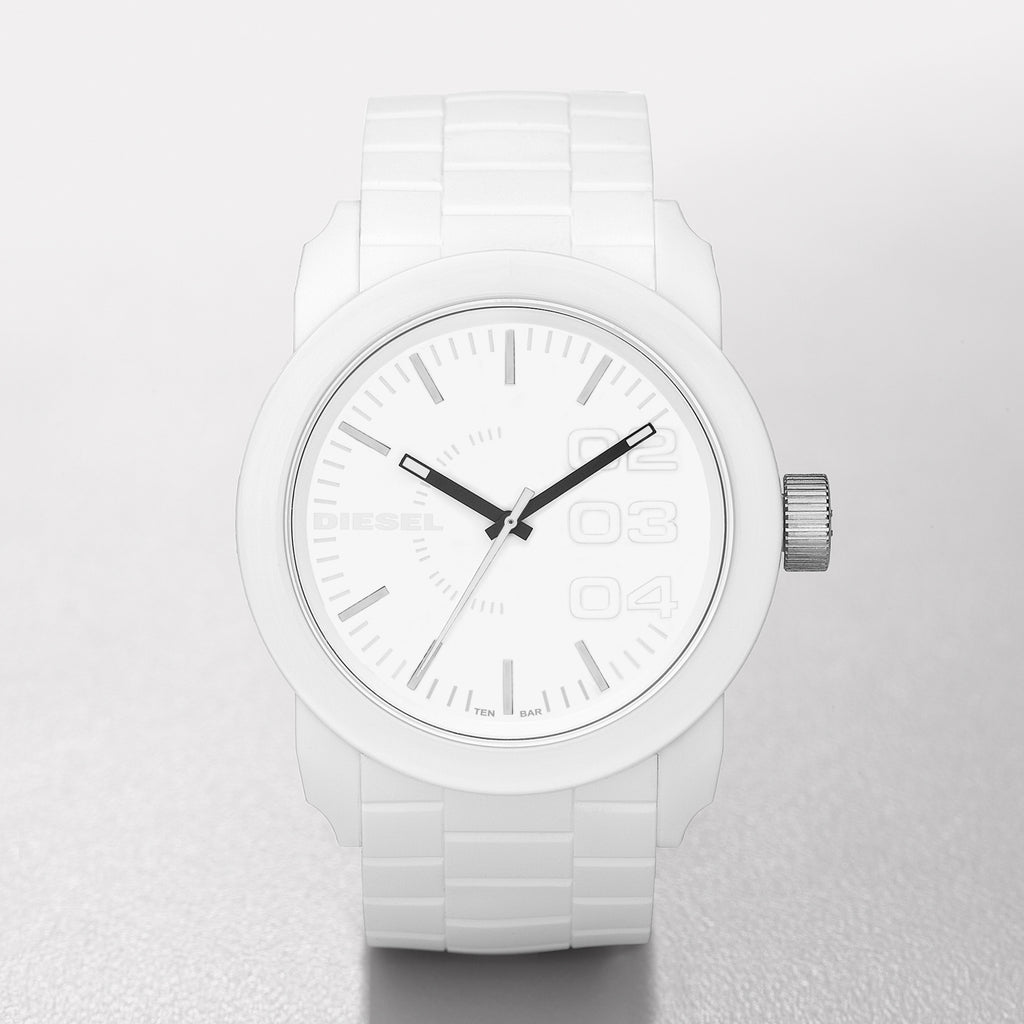 Double Down P44 White All & Silicone Strap