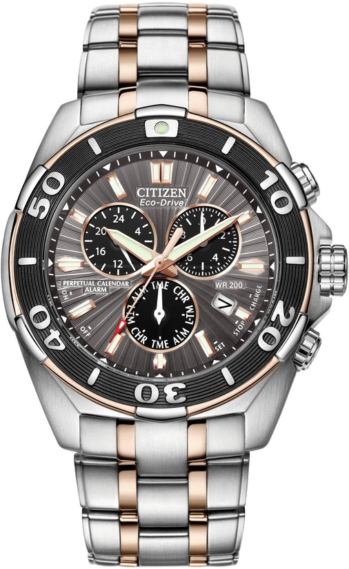 Perpetual Calender Chronograph Two-Tone Mens Watch BL5446-51H