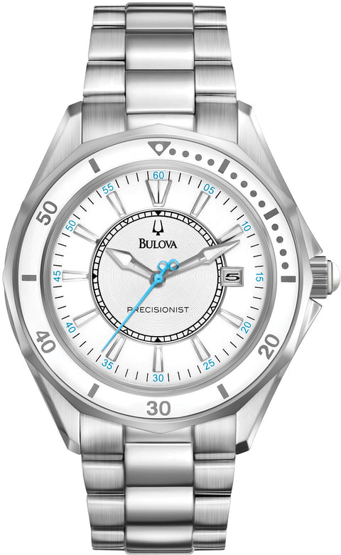 Winterpark Precisionist White Dial Stainless Steel Women's Watch 96M123