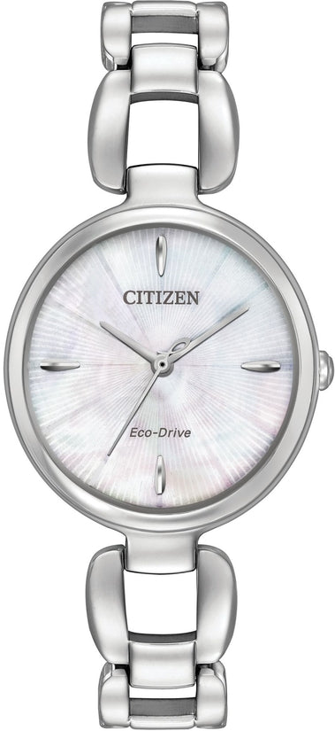 Citizen L  Silver Tone Mother Of Pearl