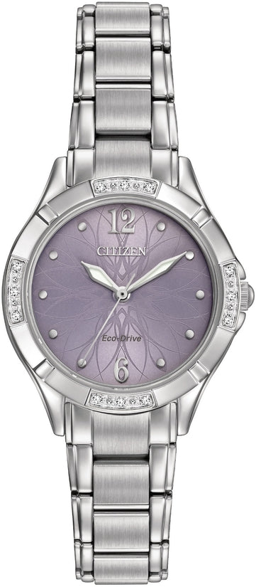 Diamond Lavender Flower Dial 12 Diamonds