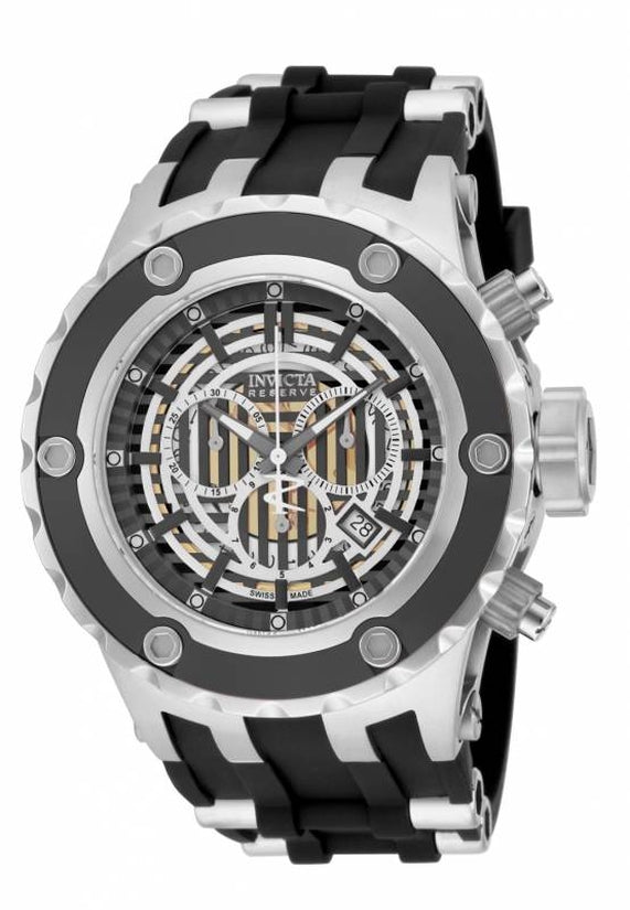 Subaqua Men's Polyurethane/Stainless Steel Black Dial