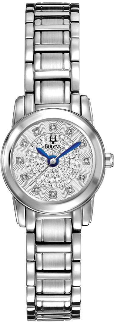 Highbridge Diamond Accented Silver Dial Stainless Steel Women's Watch 96P143